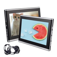 10.1'' Dual Screens Portable DVD Players with Specail Power Cables Car Backseat Entertainment System AV IN/AV OUT Video Player