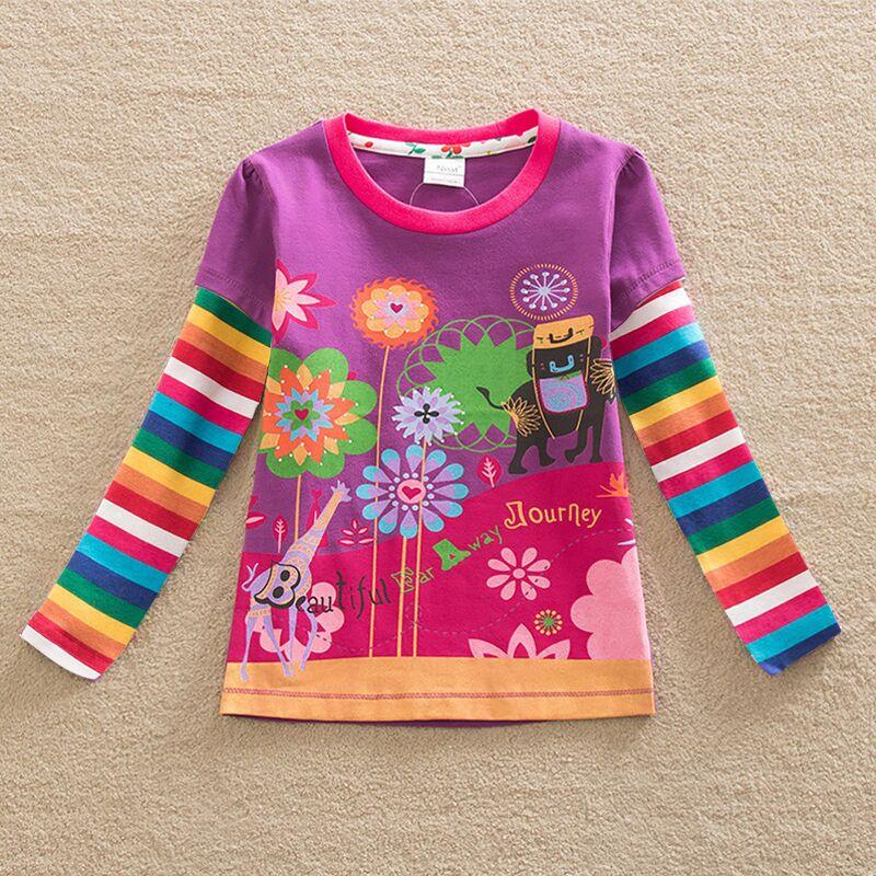 HTB1PxFORXXXXXahXpXXq6xXFXXX3 - Girls Long Sleeve All Year T-Shirt, Long Sleeve, Cotton, Various Designs and Prints