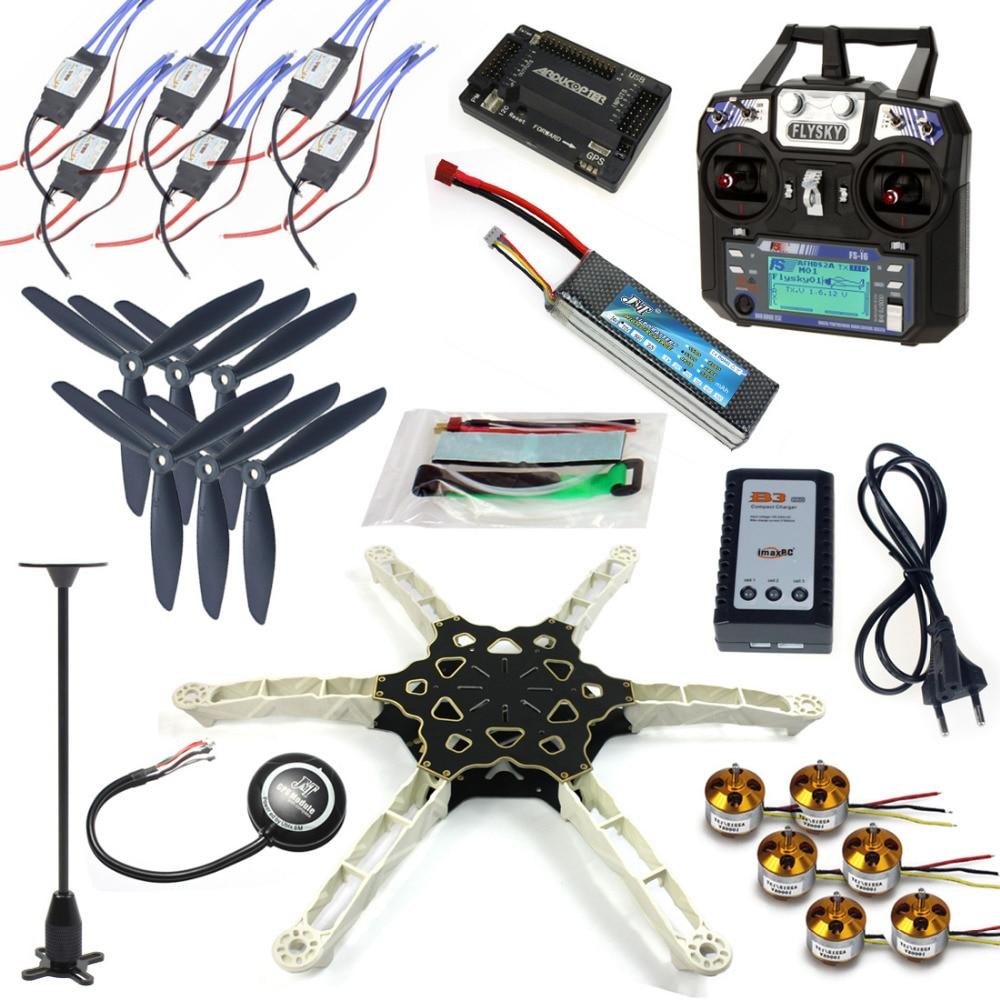 JMT DIY FPV Multirotor Drone Full GPS APM2.8 Set Alien Across Carbon Fiber RC Hexacopter Flysky FS-i6 6CH TX&RX Motor ESC totem q450 alien across carbon fiber rc quadrocopter diy fpv multi rotor drone kkmulticopter v2 3 with rx