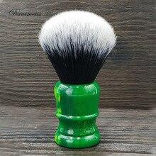 Dscosmetic punho de resina império, 26mm escova de barbear com pontos de cabelo sintético macio para barbear ferramentas,