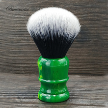 dscosmetic 26mm vert empire resin handle tuxedo knots shaving brush with soft dense synthetic hair for wet tools