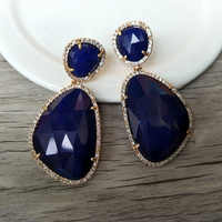 1 paire de bijoux en pierre gemme pour yeux de chat, boucles d'oreilles en pierre opale goutte, boucles d'oreilles en pierre à facettes Micro Pave CZ pour femmes ER205