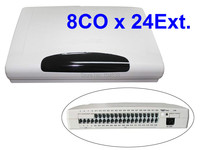 Rich features pbx system / pabx / phone exchange system CP824 (8 Phone lines and 24 Extensions )