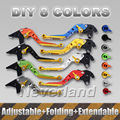 For Yamaha YZF R1 R6 FZ1 FAZER R6S USA CANADA VERSION CNC Folding Extendable Brake Clutch Levers Motorcycle D15