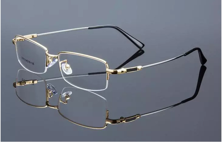 d798f8baa9 Eyesilove Retail 1pcs half rim optical frames metal myopia eyeglasses frame  for men women prescription glasses.