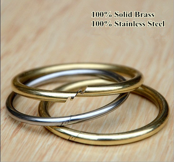 10pcs lot 100 solid brass stainless steel round open jump ring