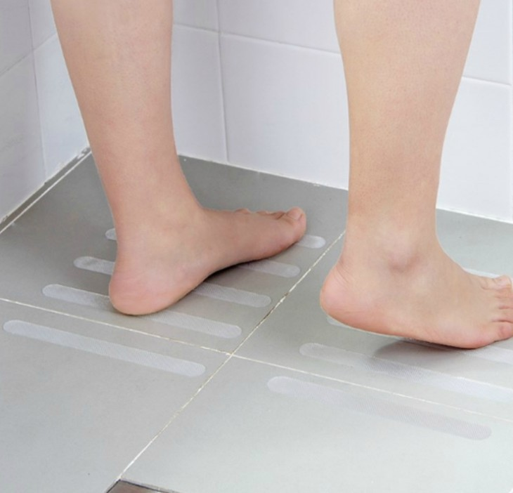 Anti Slip Strips Shower Stickers Bath Safety Strips Transparent Non Slip Strips Stickers For Bathtubs Showers Stairs Floors in Bath Mats from Home Garden