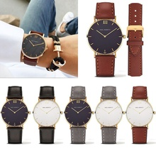 2017 Hot Women Watches Brand Luxury Casual Quartz Watch female Ladies Leather watches Men Wristwatches relogio feminino