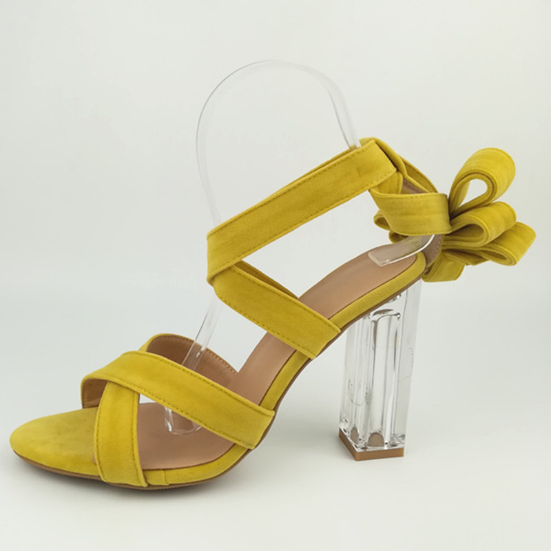 Summer New Type of Butterfly-knotted Crystal Chunky High Heel Womens Sandals Crossed Tips Hollowed-out Butterfly-knots ShoesSummer New Type of Butterfly-knotted Crystal Chunky High Heel Womens Sandals Crossed Tips Hollowed-out Butterfly-knots Shoes