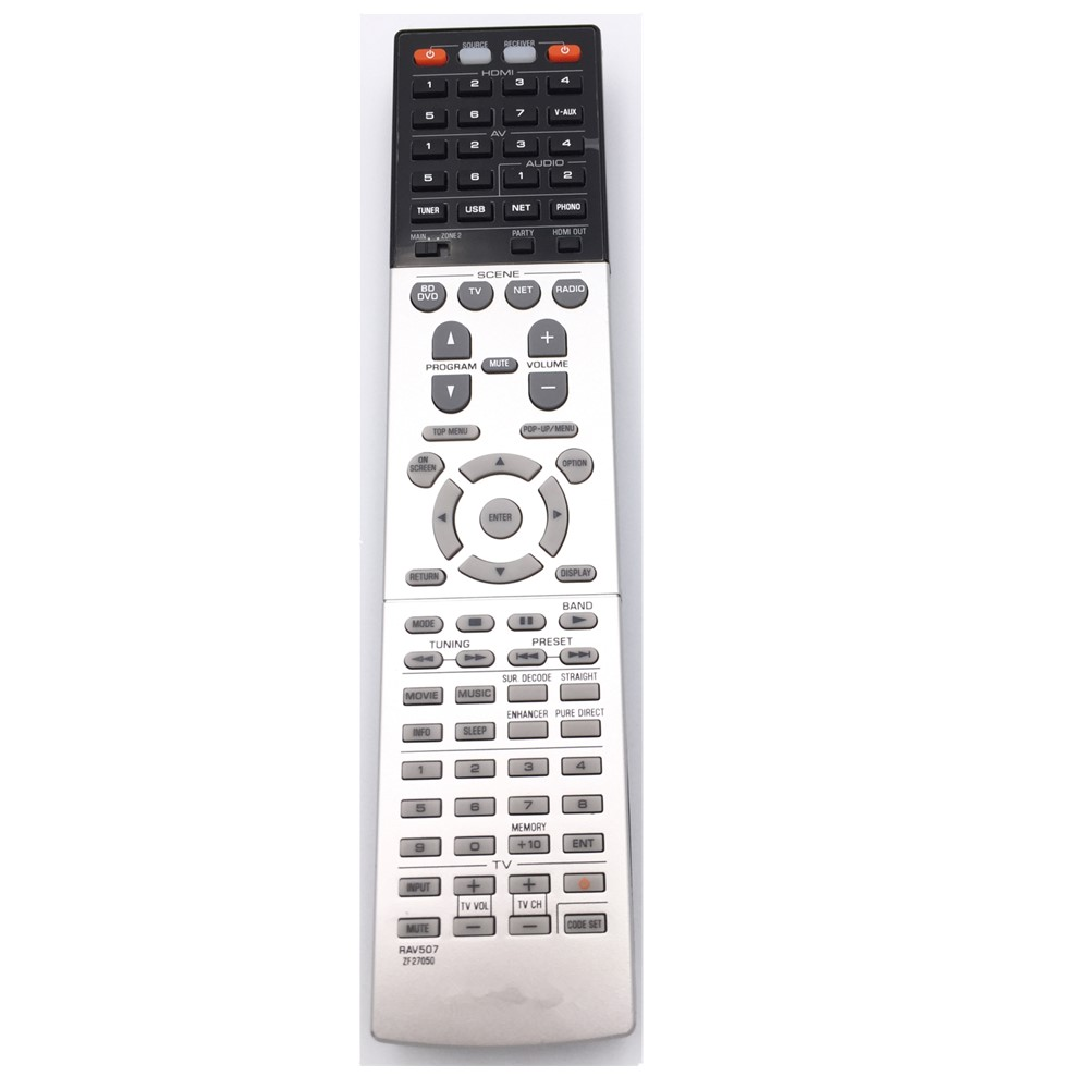 RAV507 ZF27050 FIT FOR YAMAHA AV Receiver Remote Control RX-A830 new remote control fit for yamaha wn058100 htr 6130 rx v363bl rav283 a v av receiver remote control
