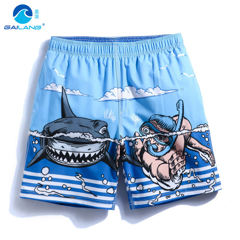 Gailang mens swimming trunks striped loose pockets beach surf board short praia gym shorts joggers quick dry bodybuilding shorts