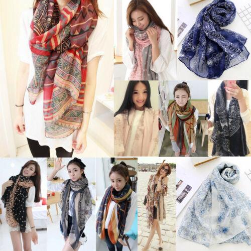 2018 Brand New Women Soft Long Neck Large   Scarf     Wrap   Shawl Pashmina Stole Scarve Chiffon Cotton