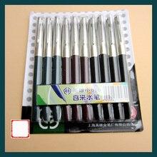 10pcs/lot Hero 616 0.5mm Iridium Nib Steel Fountain Pen with Length 13.4cm Mix Colors Pens Free Shipping