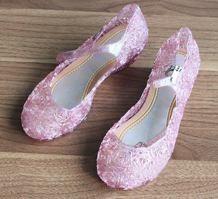 Hot European Fashion Children New 2017 Pink Gold Blue Girls Beauty Princess Shoes for Kids