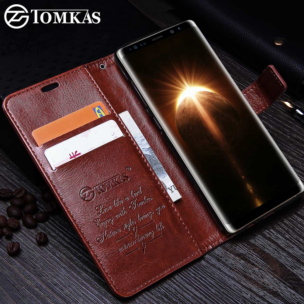 new style 25b92 c1815 US $2.99 40% OFF|TOMKAS Case For Samsung Galaxy Note 8 Leather Cover Wallet  Cases For Samsung Note 8 Kickstand Phone Cover For Galaxy Note 8 Case-in ...