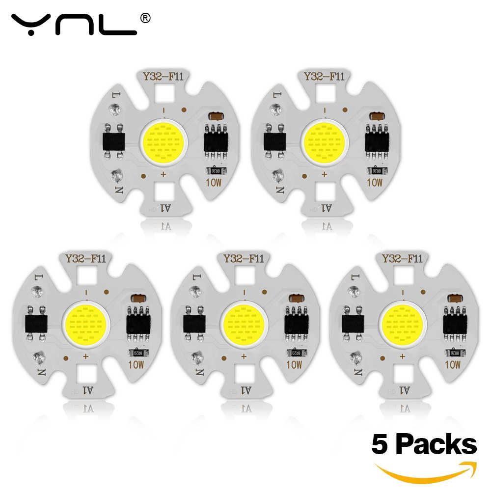 5Pcs Lampada LED Lamp 220V 3W 5W 7W 9W Smart IC For DIY LED Light Bulb Downlight Spotlight No Need Lighting Transformer