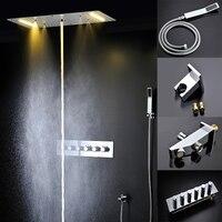 Банные принадлежности Электрический Душ с LED 20 ''тропический SPA душ массаж Панель горячая холодная высокая пропускная Для ванной
