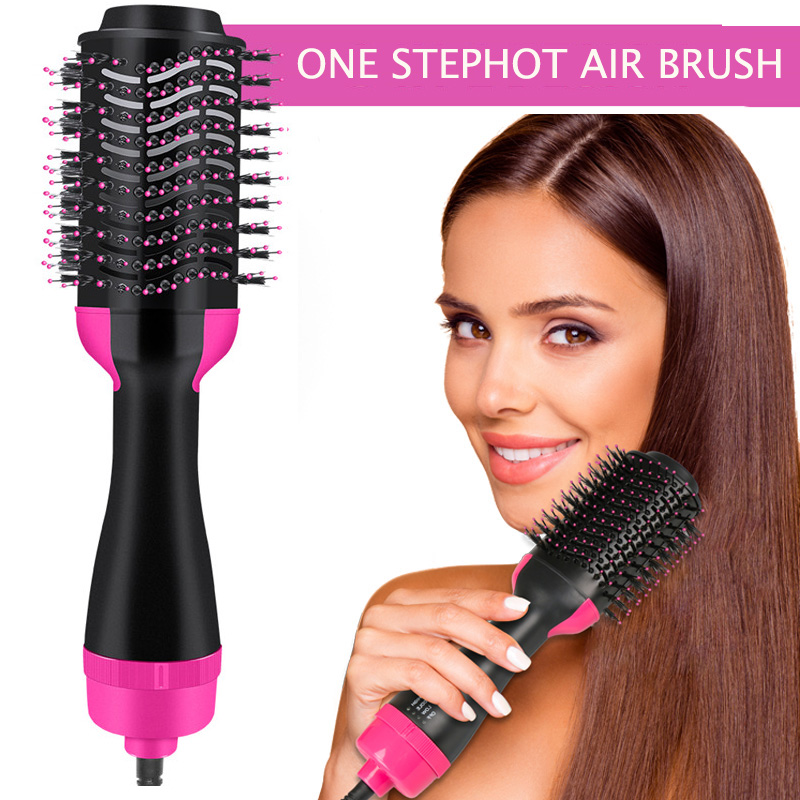 Dropshipping Hair Brush One-Step Hair Dryer & Volumizer 3 In 1 Dryer Straightener Curler Styling Comb hot comb blow dryer brush