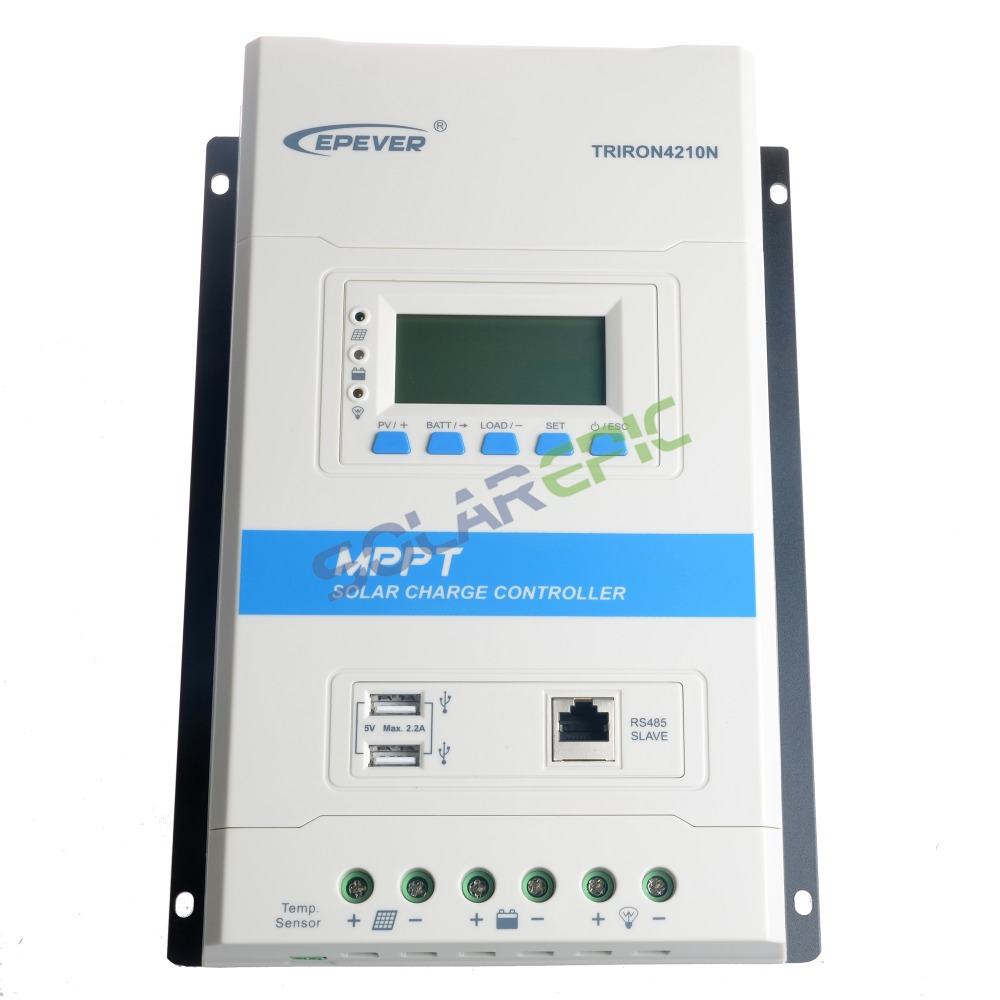 40A Epever Triron Modular 40A MPPT Solar Charge Controller 12V 24V TRIRON4210N Solar Regulator Battery Panel