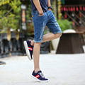 New arrival Mens denim shorts fashion loose casual breathable Slim hole jean beach shorts men 9208