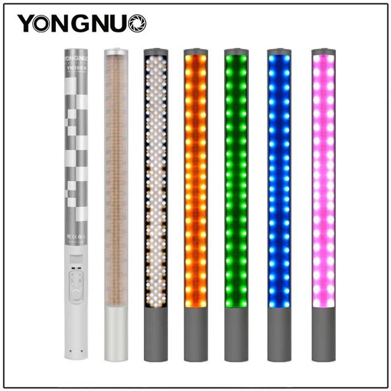 Yongnuo YN360 YN360 II ручной светодиодный светильник со льдом встроенный аккумулятор 3200k до 5500k RGB цветной светодиодный светильник