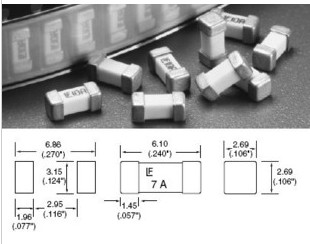 0451.003 Taping Imported Original SMD Fuse 1808 LF3A 6.1 * 2.69MM