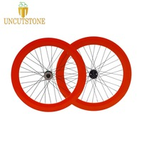 Fixed Gear bike 70mm wheels RIM aluminum alloy wheelset f road bike wheel rim fixie Track bike lip flop wheels