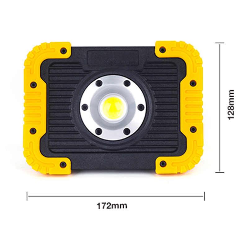 Светодиодный портативная Рабочая Лампа 18650 на батарейках светодиодный прожектор яркий открытый кемпинг лампа ремонт автомобиля Аварийный Рабочий фонарик