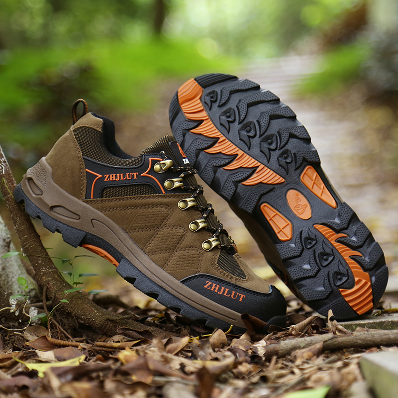 Spring Outdoor Shoes Sport Good Quality Men Hiking Camping Shoes Army Green Women Hiking Shoes Big Size 36 47 Men Suede Sneakers in Hiking Shoes from Sports Entertainment