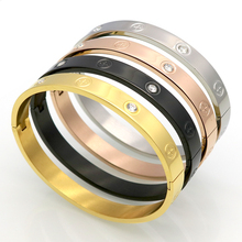 Hot Sell Couple Bracelet Cross Screw Gifts For Women Titanium Steel Gold Color Fashion Men Jewelry Love Bracelets & Bangles