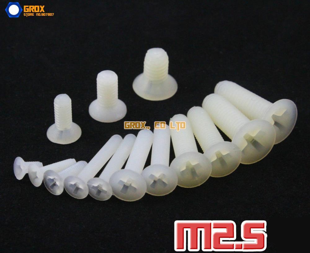 M2.5 Nylon Phillips Countersunk Head Machine Screw Insulation Screw m2 5 nylon phillips pan head machine screw insulation screw