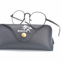 fdf17d7ab67 MINCL  Round Eyewear frame Unisex Eyeglasses Frame women men Patchwork  Optical Glasses Frame Brand Designer Computer FML