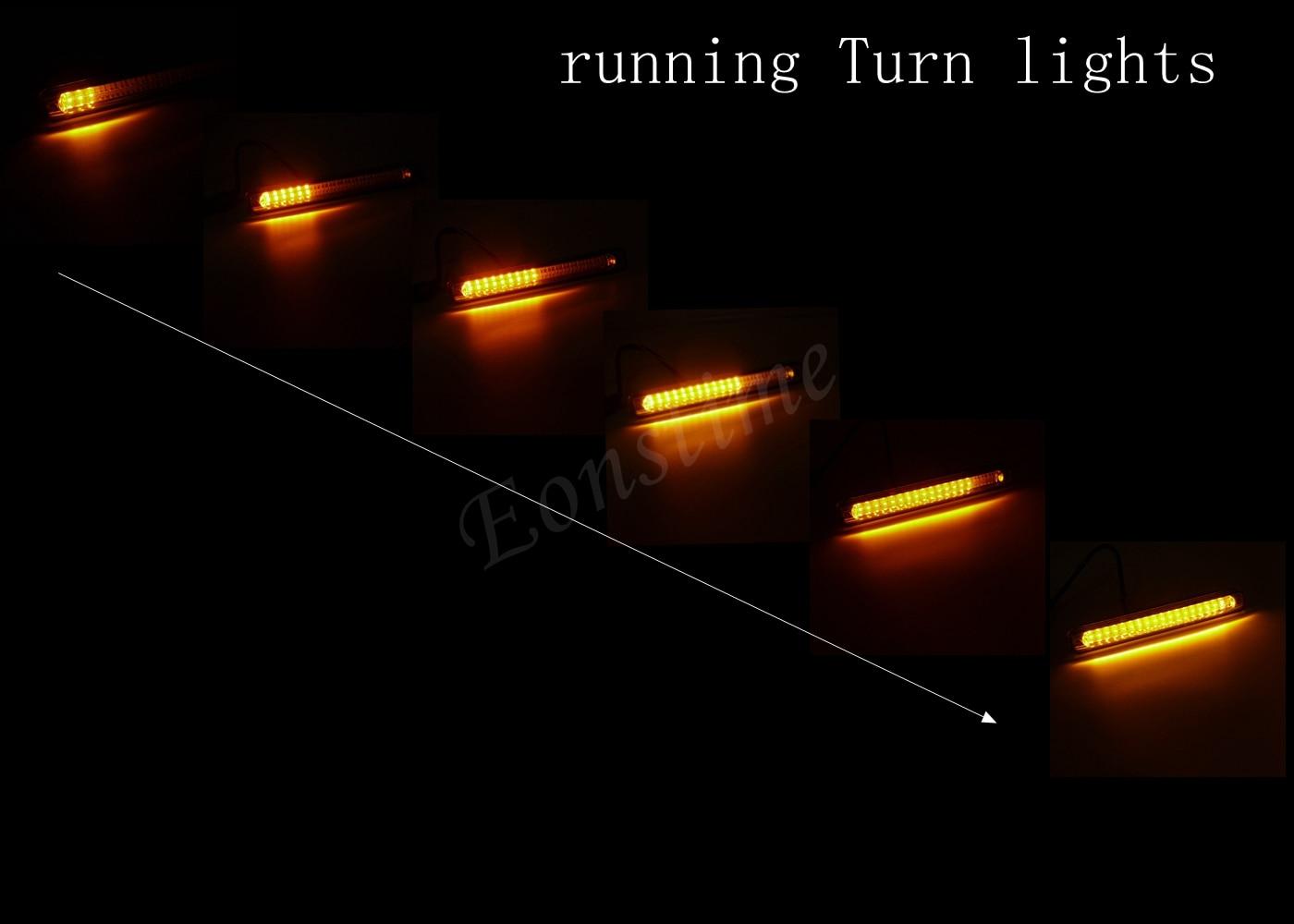 Eonstime 12v 16v Car 36led White Daytime Running Fog Light In Lights Delay Amber Turn Signal Lamp Dimming 2x7w