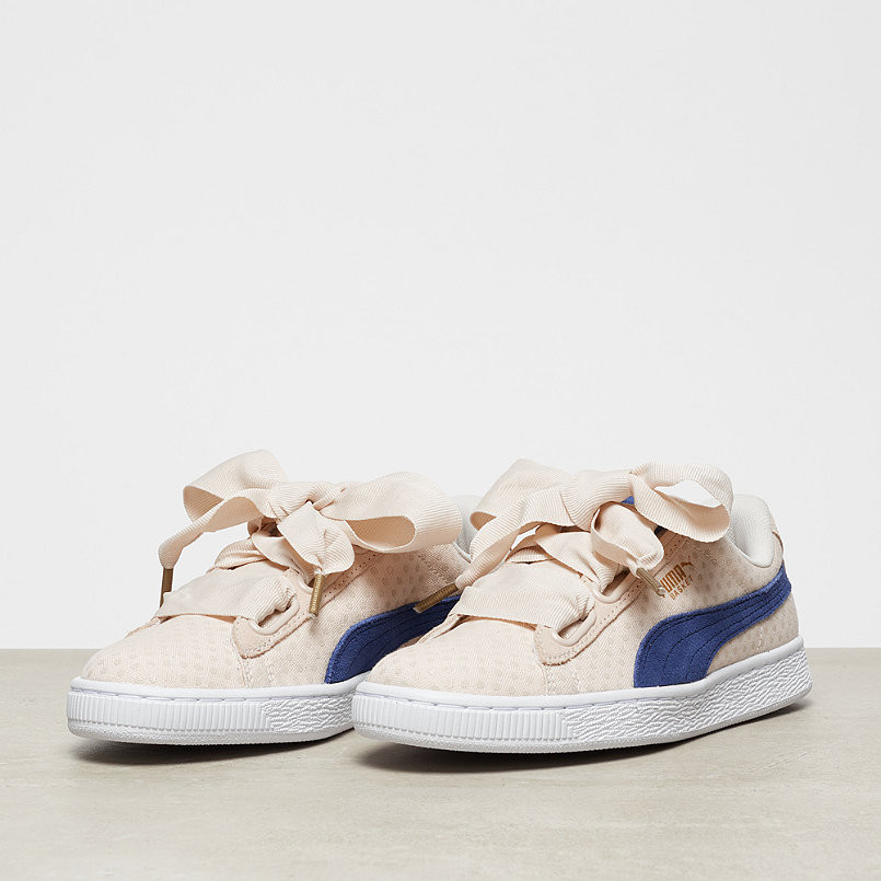huge discount b756e 7ed68 Puma shoes Puma Basket Heart Denim Bow Girl's Shoes Denim Series Khaki  Point Women's Shoes size 36 39-in Badminton Shoes from Sports &  Entertainment ...