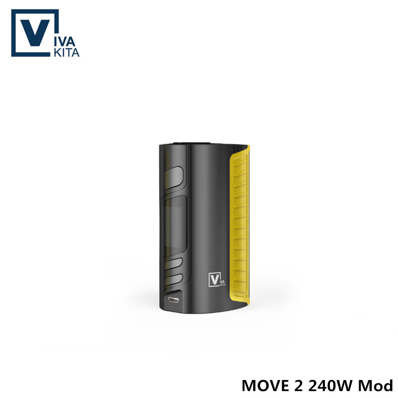 Electronic cigarette mech Mod MOVE 2 240W Box Mod fit three 18650 battery cell(not include) 240W Vaporizer Mod with 510 thread