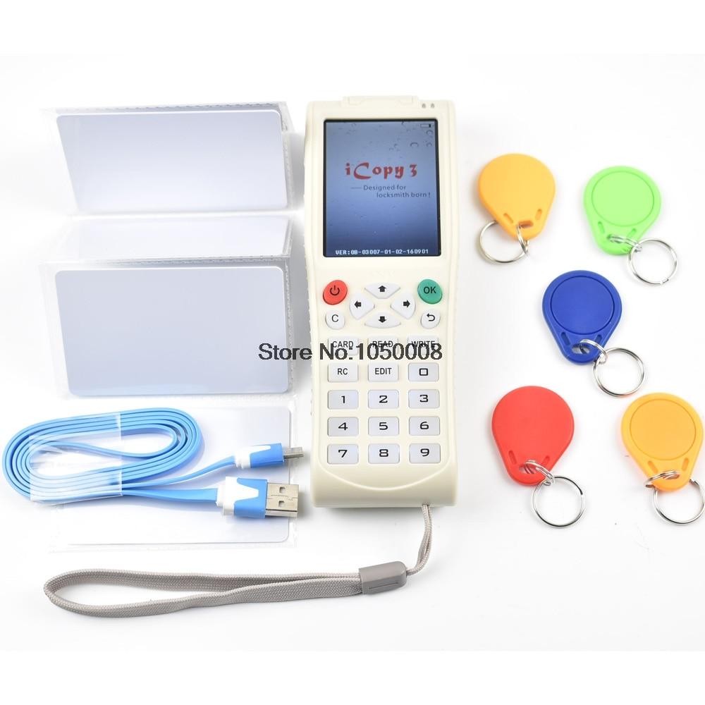 Nouvelle Arrivée Clé Machine iCopy 3 avec Pleine Fonction de Décodage Carte À Puce Machine À Clés RFID NFC Copieur IC/ID lecteur/Writer Duplicator