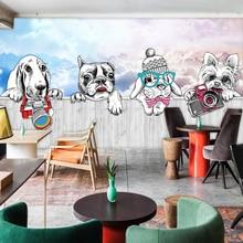 Dog Theme Fresco Living Room Bedroom Background