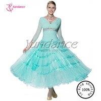 2017 Latest New Spanish Style Light Green Modern Dance Dress Standard Dress B 13472