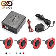 Sinairyu 13 мм плоский датчик s Регулируемая глубина 16 мм Автомобильный парковочный датчик помощь резервный радар зуммер система для заднего переднего бампера