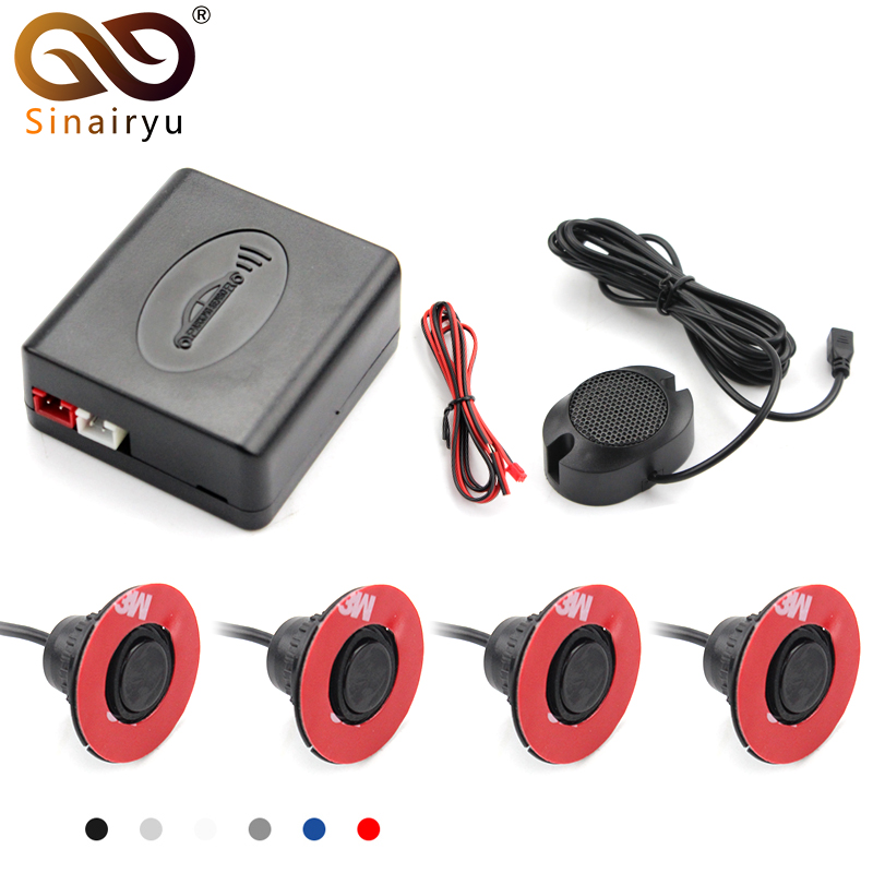 Sinairyu 13mm Flat Sensors Adjustable Depth 16mm Car Parking Sensor Assistance Backup Radar Buzzer System For Rear Front Bumper