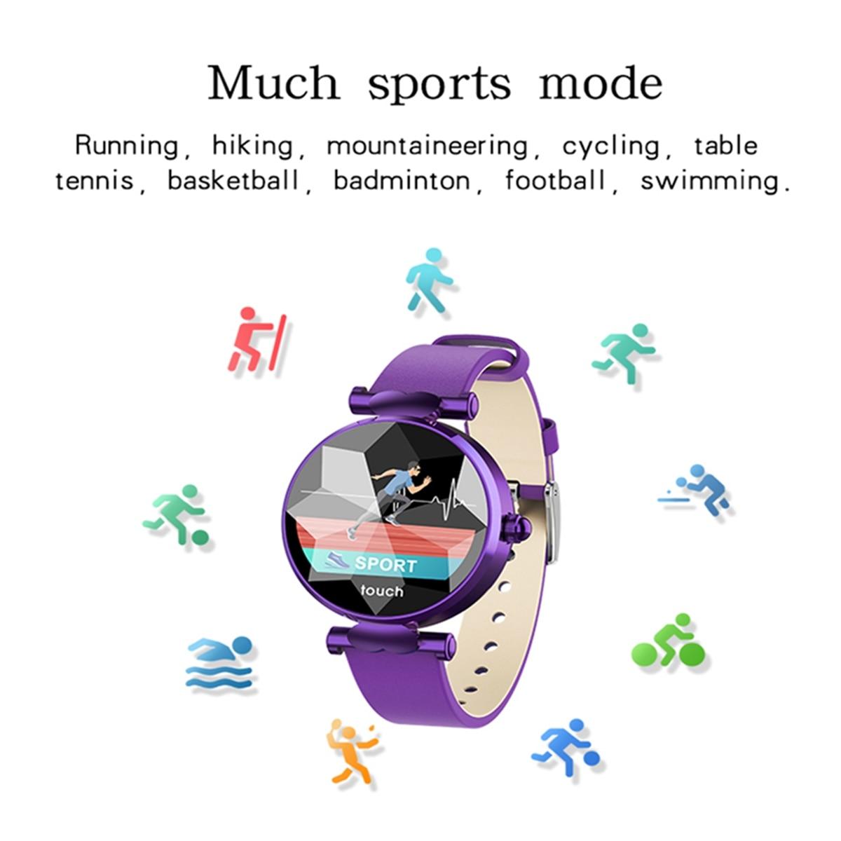 Femme montre intelligente écran coloré fréquence cardiaque pression artérielle moniteur de sommeil période de la fille Re mi nder reloj inteligente VS mi bande 4