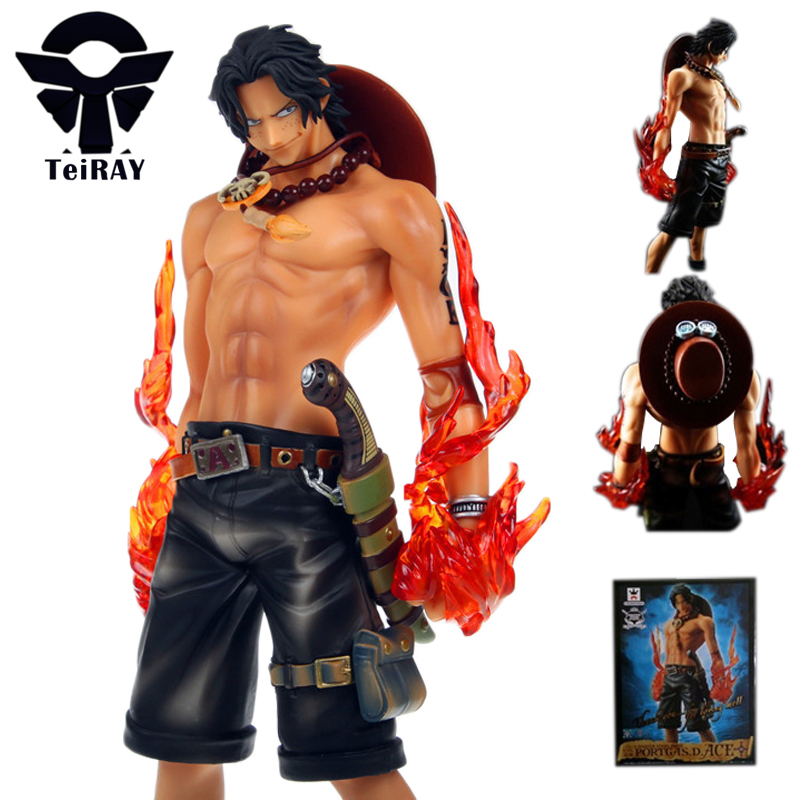 High-quality-Japanese-Anime-One-Piece-26cm-Large-Size-Ace-Action-Figure-Model-Toys-with-Box