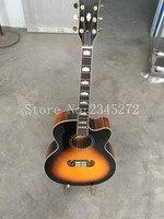 43 polegada J-200 violão de 6 cordas, spruce top, maple na parte de trás e em ambos os lados, imediatamente enviado + frete grátis