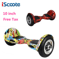 10 Inch Hoverboard Skateboared 2 Wheels Smart Balance Scooter Hover Board Steering Wheel Oxboard