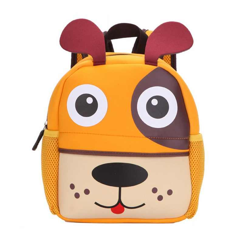 3eeb6f3f6442 Children 3D Cute Animal Design Backpack Toddler Kid Neoprene School Bags  Kindergarten Girls Boys Cartoon Zoo Pack Dog Monkey Owl