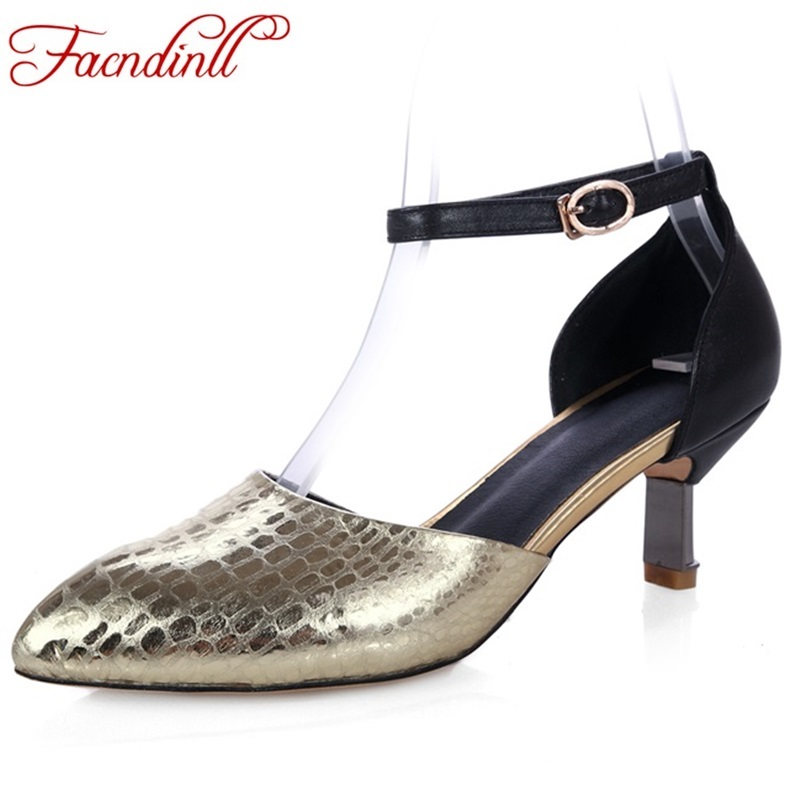 ФОТО fashion leather shoes 2017 spring summer shoes woman sandals high heels sexy pointed toe women buckle dress wedding shoes pumps