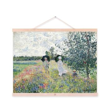 Claude Monet impresionista moderno campo Rural flores impresiones ...