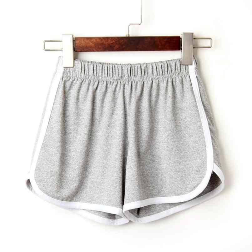 Fashion Vrouwen Lady Zomer dagelijks Shorts Elastische Taille Eenvoudige Korte Feminino Knielengte Solid Casual shorts hot voor 90sPlus size