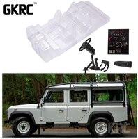 Имитация прозрачной внутренней отделки для Trx4 Defender Trx-4 сиденья в кабине приборной панели рулевого колеса Djc-0617 (1 комплект)