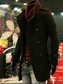 Black Brown winter double-breasted wool coat mens trench coats slim casual coat men overcoat mens fashion pea coats big size 9XL